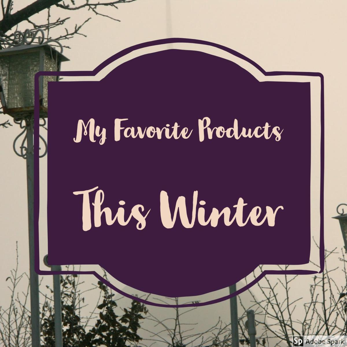 My Winter 2017 Favorites